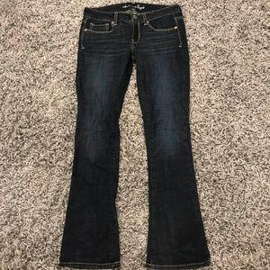 AEO  Straight dark denim jeans